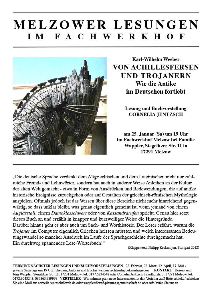 Einladung Lesung und Buchvorstellung, 25.01.2014